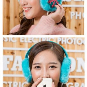 Winter warm female ear phones form music